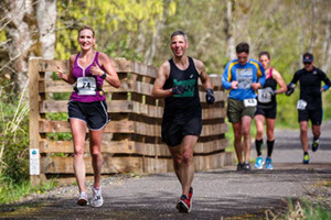 Photo of runners in the Vernonia Marathon